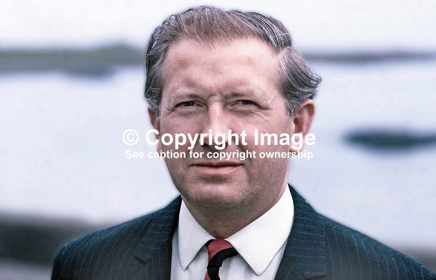 James Kilfeddar, Ulster Unionist candidate, North Down, N Ireland, in UK General Election, June 1970. 197005000204b. Native of Laghey, Co Donegal, Rep of Ireland.<br /> <br /> Copyright Image from Victor Patterson,<br /> 54 Dorchester Park, Belfast, UK, BT9 6RJ<br /> <br /> t1: +44 28 90661296<br /> t2: +44 28 90022446<br /> m: +44 7802 353836<br /> <br /> e1: victorpatterson@me.com<br /> e2: victorpatterson@gmail.com<br /> <br /> For my Terms and Conditions of Use go to<br /> www.victorpatterson.com