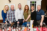 Brian Dineen, Tralee who celebrated his birthday with friends and family on Saturday night in the Denny Lane restaurant, Tralee, were l-r: Georgina Hobbert, Aidan Hobbert, Brian Dineen, Marsella Daly, Tina Dineen and Gerard Dineen.