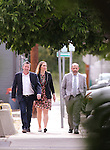 From left, Cory Christensen, Celssie Hardy and Nevada Assembly Majority Leader Paul Anderson, R-Las Vegas, right, cross Carson Street in front of the Legislative Building in Carson City, Nev., on Sunday, May 31, 2015.  <br /> Photo by Cathleen Allison