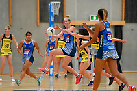 Mystics&rsquo; Elisapeta Toeava in action during the Pre Season Tournament - Pulse v Mystics at Ngā  Purapura, Otaki, New Zealand on Saturday 9 February  2019. <br /> Photo by Masanori Udagawa. <br /> www.photowellington.photoshelter.com