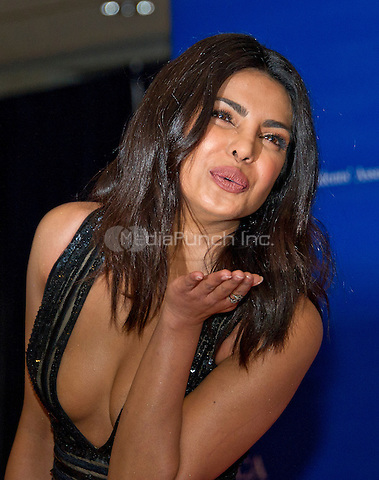Priyanka Chopra arrives for the 2016 White House Correspondents Association Annual Dinner at the Washington Hilton Hotel on Saturday, April 30, 2016.<br /> Credit: Ron Sachs / CNP<br /> (RESTRICTION: NO New York or New Jersey Newspapers or newspapers within a 75 mile radius of New York City)/MediaPunch