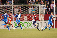 Carson, California - April 21, 2012: The Philadelphia Union defeated CD Chivas USA 1-0 at Home Depot Center stadium in Carson, California.