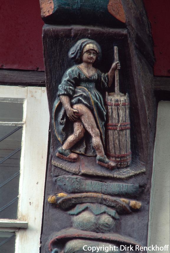 """Die Butterhanne - Detal des Hauses"""" Brusttuch"""", Goslar, Deutschland Unesco-Weltkulturerbe"""