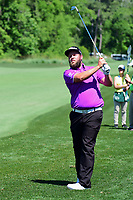 Andrew Johnston (GBR) watches his approach shot on 11  during round 2 of the Shell Houston Open, Golf Club of Houston, Houston, Texas, USA. 3/31/2017.<br /> Picture: Golffile | Ken Murray<br /> <br /> <br /> All photo usage must carry mandatory copyright credit (&copy; Golffile | Ken Murray)