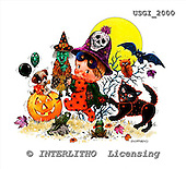 GIORDANO, CUTE ANIMALS, LUSTIGE TIERE, ANIMALITOS DIVERTIDOS, Halloween, paintings+++++,USGI2000,#AC#