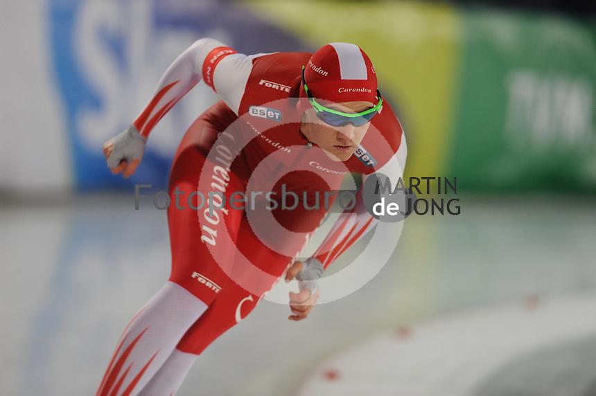 SCHAATSEN: AMSTERDAM: Olympisch Stadion, 01-03-2014, KPN NK Sprint/Allround, Coolste Baan van Nederland, Lotte van Beek, ©foto Martin de Jong