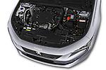 Car Stock 2018 Peugeot 508 Allure 5 Door Hatchback Engine  high angle detail view