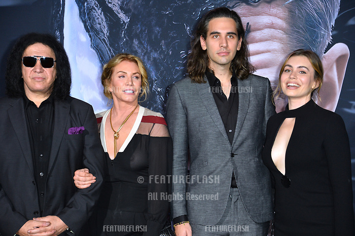 LOS ANGELES, CA. October 01, 2018: Gene Simmons, Shannon Tweed, Nick Simmons &amp; Sophie Simmons at the world premiere for &quot;Venom&quot; at the Regency Village Theatre.<br /> Picture: Paul Smith/Featureflash