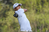 Satoshi Kodaira (JPN) watches his tee shot on 18 during round 2 of the World Golf Championships, Mexico, Club De Golf Chapultepec, Mexico City, Mexico. 3/2/2018.<br /> Picture: Golffile | Ken Murray<br /> <br /> <br /> All photo usage must carry mandatory copyright credit (&copy; Golffile | Ken Murray)