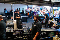 Jul 28, 2019; Sonoma, CA, USA; Crew members for NHRA top fuel driver Mike Salinas during the Sonoma Nationals at Sonoma Raceway. Mandatory Credit: Mark J. Rebilas-USA TODAY Sports
