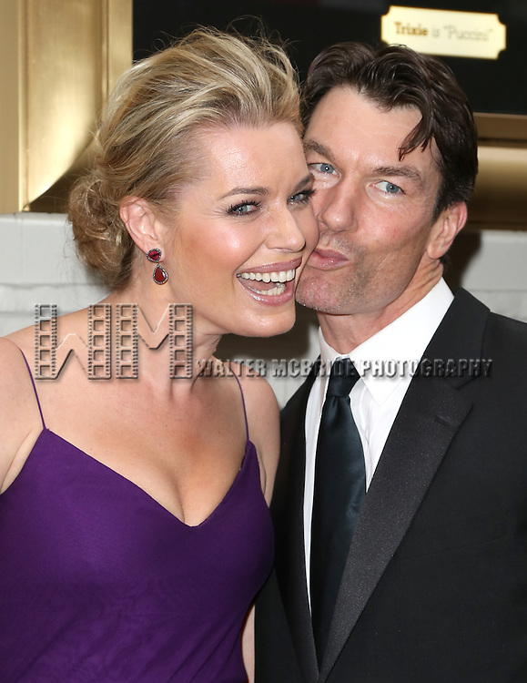 Rebecca Romijm and Jerry O'Connell attends the Broadway Opening Night Performance of  'Living on Love'  at  The Longacre Theatre on April 20, 2015 in New York City.
