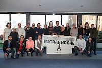 Team of the film (Director ALEX DE LA IGLESIA AND actors RAPHAEL, HUGO SILVA, PEPON NIETO, SANTIAGO SEGURA, CARMEN MACHI, CARLOS ARECES, ENRIQUE VILLEN, JAIME ORDOÑEZ, TERELE PÁVEZ, CAROLINA BANG, LUIS CALLEJO, ANA POLVOROSA, LUIS FERNANDEZ, ANTONIO VELÁZQUEZ, CARMEN RUIZ y TOMÁS POZZI) pose during `Mi gran noche´ film presentation in Madrid, Spain. February 20, 2015. (ALTERPHOTOS/Victor Blanco) /NORTEphoto.com