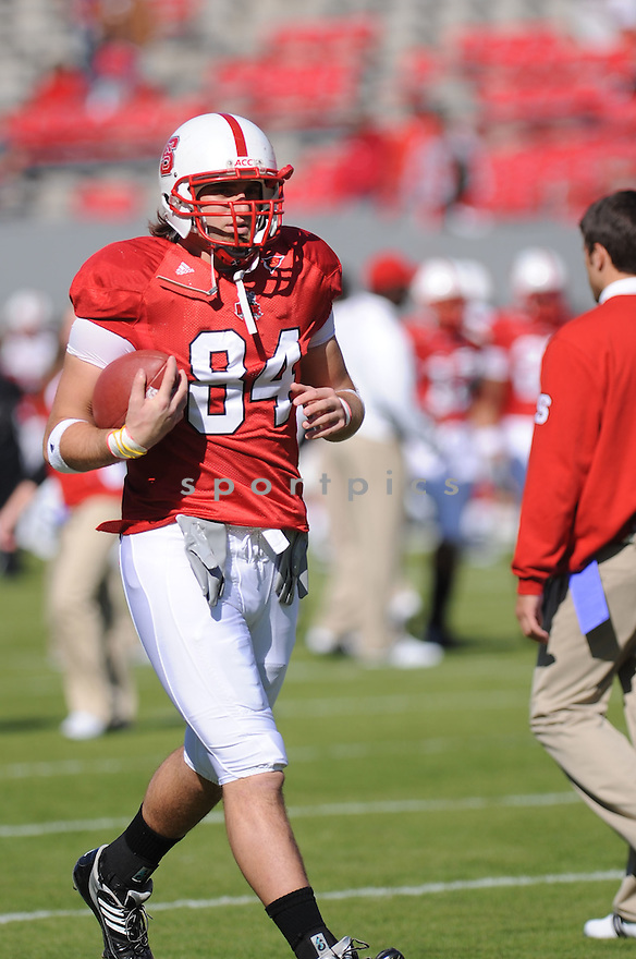 GEORGE BRYAN, of the N.C. State Wolfpack, in action during the Wolfpacks game against the Maryland Terrapins on November 7, 2009 in Raleigh, NC. N.C. State won 38-31.