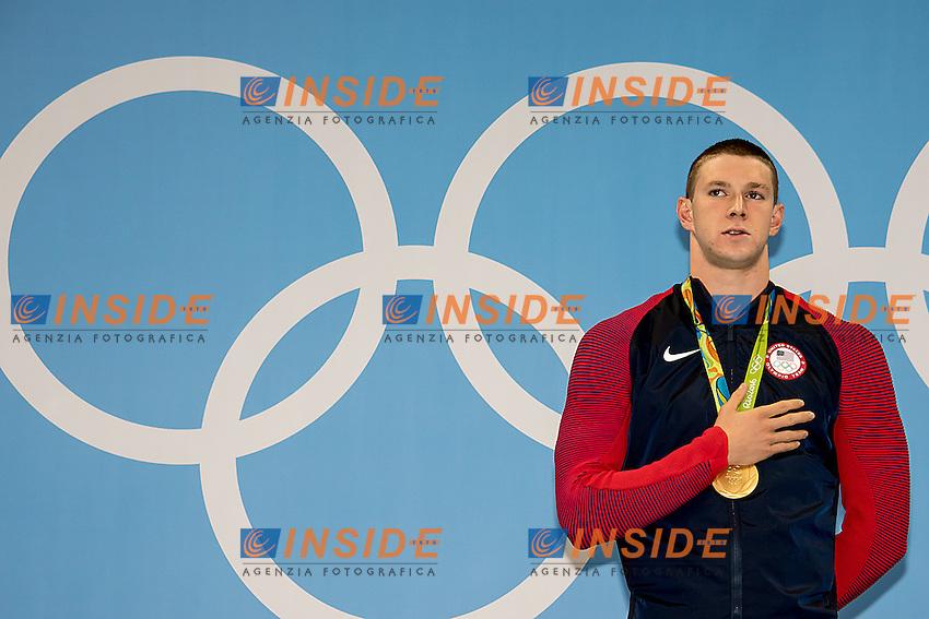 Murphy Ryan USA gold medal and Olympic record with 51.97<br /> 100 backstroke men <br /> Rio de Janeiro  XXXI Olympic Games <br /> Olympic Aquatics Stadium <br /> swimming finals 08/08/2016<br /> Photo Giorgio Scala/Deepbluemedia/Insidefoto