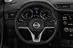 Car pictures of steering wheel view of a 2019 Nissan Rogue-sport S 5 Door SUV Steering Wheel