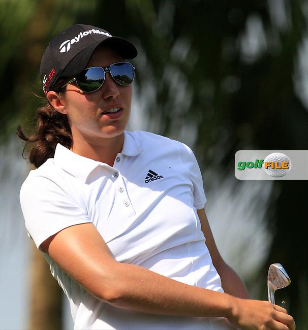Carlota Ciganda (ESP) on the 2nd tee during Round 3 of the HSBC Women's Champions at the Sentosa Golf Club, The Serapong Course in Singapore on Saturday 7th March 2015.<br /> Picture:  Thos Caffrey / www.golffile.ie