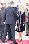 King Felipe VI of Spain and Cristina Cifuentes receive president of Portugal Marcelo Rebelo de Sousa at the Royal Palace in Madrid, Spain. April 16, 2018. (ALTERPHOTOS/Borja B.Hojas)