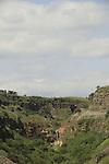 Golan Heights, Gamla waterfall at Gamla Nature Reserve