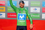Alejandro Valverde (ESP) Movistar Team retains the Green Jersey at the end of Stage 14 of the La Vuelta 2018, running 171km from Cistierna to Les Praeres, Nava, Spain. 8th September 2018.<br /> Picture: Unipublic/Photogomezsport | Cyclefile<br /> <br /> <br /> All photos usage must carry mandatory copyright credit (&copy; Cyclefile | Unipublic/Photogomezsport)