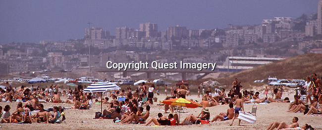 Israel is a country in Western Asia, situated at the southeastern shore of the Mediterranean Sea. It shares land borders with Lebanon to the north, Syria in the northeast, Jordan on the east, the Palestinian territories comprising the West Bank and Gaza Strip on the east and southwest, respectively, and Egypt and the Gulf of Aqaba in the Red Sea to the south. It contains geographically diverse features within its relatively small area. <br /> Photo by Mike Rynearson/Quest Imagery