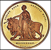 Gold Victoria 'Lion' coin - Yours for £140,000.
