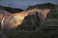 Cliffs along Colorado River. Arizona USA Grand Canyon National Park.