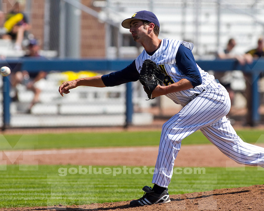 The University of Michigan baseball team lost to Nebraska, 7-3, on Senior Day at the Wilpon Baseball Complex in Ann Arbor, Mich., on May 19, 2012.
