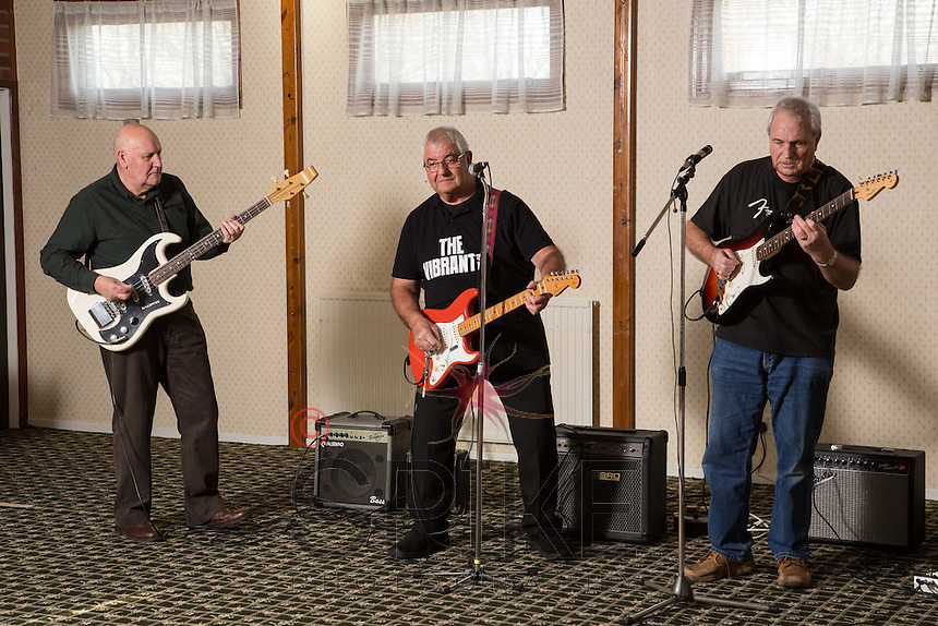 The Vibrants guitarists - pictured from left are Bob White, Gordon Goodwin and Bob Blackhurst