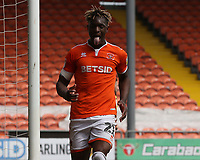 Blackpool's Armand Gnanduillet reacts after a missed chance on goal<br /> <br /> Photographer Stephen White/CameraSport<br /> <br /> The EFL Sky Bet League One - Blackpool v Fleetwood Town - Monday 22nd April 2019 - Bloomfield Road - Blackpool<br /> <br /> World Copyright © 2019 CameraSport. All rights reserved. 43 Linden Ave. Countesthorpe. Leicester. England. LE8 5PG - Tel: +44 (0) 116 277 4147 - admin@camerasport.com - www.camerasport.com