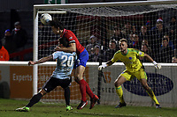 Lewis Kinsella of Aldershot Town and Craig Robson of Dagenham  during Dagenham & Redbridge vs Aldershot Town, Vanarama National League Football at the Chigwell Construction Stadium on 10th February 2018
