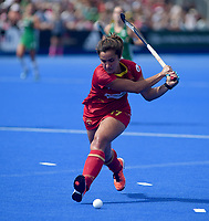 Spain's Lola Riera<br /> <br /> Photographer Hannah Fountain/CameraSport<br /> <br /> Vitality Hockey Women's World Cup - Ireland v Spain - Saturday 4th August 2018 - Lee Valley Hockey and Tennis Centre - Stratford<br /> <br /> World Copyright &copy; 2018 CameraSport. All rights reserved. 43 Linden Ave. Countesthorpe. Leicester. England. LE8 5PG - Tel: +44 (0) 116 277 4147 - admin@camerasport.com - www.camerasport.com
