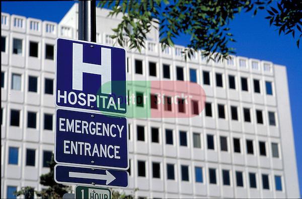 hospital symbol on medical center building