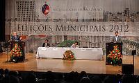 ATENCAO EDITOR: FOTO EMBARGADA PARA VEICULO INTERNACIONAL - SAO PAULO, SP, 20 DE SETEMBRO DE 2012 - COLOQUIO ARQUIDIOCESE DE SAO PAULO - Candidatos a prefeitura de Sao Paulo durante debate promovido pela Arquidiocese de São Paulo na tarde dessa quinta-feira, na regiao leste da capital paulista. FOTO: WILLIAM VOLCOV - BRAZIL PHOTO PRESS.