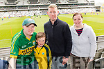 John O'Donoghue (Gneeveguilla) with Conor Lynch, Denis Lynch and Mairead O'Keeffe (Newmarket), pictured at the Kerry v Cork Munster Final held at Páirc Uí Chaoimh, Cork, on Saturday evening last.​