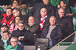 01.12.2018, Weser Stadion, Bremen, GER, 1.FBL, Werder Bremen vs FC Bayern Muenchen, <br /> <br /> DFL REGULATIONS PROHIBIT ANY USE OF PHOTOGRAPHS AS IMAGE SEQUENCES AND/OR QUASI-VIDEO.<br /> <br />  im Bild<br /> <br /> Uli Hoeness (FC Bayern Muenchen)<br /> Karl-Heinz &bdquo;Kalle&ldquo; Rummenigge (Vorstandsvorsitzender FC Bayern Muenchen)<br /> <br /> Foto &copy; nordphoto / Kokenge