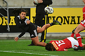 9th June 2017, Westpac Stadium, Wellington, New Zealand; International Womens Rugby; New Zealand versus Canada;  New Zealands Stacey Waaka  makes a pass