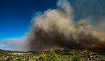 Incendio forestal en Gatova que afecta a Gatova, Altura y Segorbe.<br /> <br /> Wildfire in Gatova that affects Gatova, Altura and Segorbe.<br /> <br /> Jun 30, 2017.<br /> Segorbe, Castellon - Spain.
