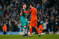 Toby Alderweireld of Tottenham Hotspur and Hugo Lloris of Tottenham Hotspur celebrate after the UEFA Champions League Quarter Final second leg match between Manchester City and Tottenham Hotspur at the Etihad Stadium on April 17th 2019 in Manchester, England. (Photo by Daniel Chesterton/phcimages.com)<br /> Foto PHC/Insidefoto <br /> ITALY ONLY