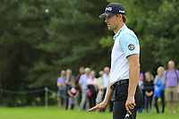 Victorv Perez (FRA) putts on the 16th green during Sunday's Final Round of the Northern Ireland Open 2018 presented by Modest Golf held at Galgorm Castle Golf Club, Ballymena, Northern Ireland. 19th August 2018.<br /> Picture: Eoin Clarke | Golffile<br /> <br /> <br /> All photos usage must carry mandatory copyright credit (&copy; Golffile | Eoin Clarke)