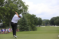 Jon Rahm (ESP) tees a provisional ball off the 3rd tee during Friday's Round 2 of the 2017 PGA Championship held at Quail Hollow Golf Club, Charlotte, North Carolina, USA. 11th August 2017.<br /> Picture: Eoin Clarke | Golffile<br /> <br /> <br /> All photos usage must carry mandatory copyright credit (&copy; Golffile | Eoin Clarke)