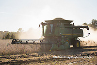 63801-07311 Soybean harvest with John Deere combine in Marion Co. IL