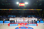Spain's (R) vies with Lithuania's (L) during European championship basketball final match between Spain and Lithuania on September 20, 2015 in Lille, France  (credit image & photo: Pedja Milosavljevic / STARSPORT)