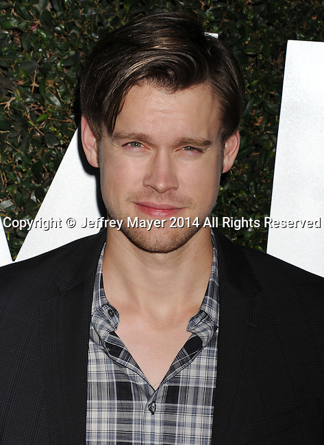 BEVERLY HILLS, CA- OCTOBER 02: Actor Chord Overstreet arrives at the Michael Kors Hosts Launch Of Claiborne Swanson Frank's 'Young Hollywood' Portrait Book at a private residence on October 2, 2014 in Beverly Hills, California.