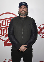 "HOLLYWOOD, CA - APRIL 11:  Tyler Labine at the Los Angeles premiere of Fox Searchlight Pictures' ""Super Troopers 2"" at ArcLight Hollywood on April 11, 2018 in Hollywood, California. (Photo by Scott KirklandPictureGroup)"