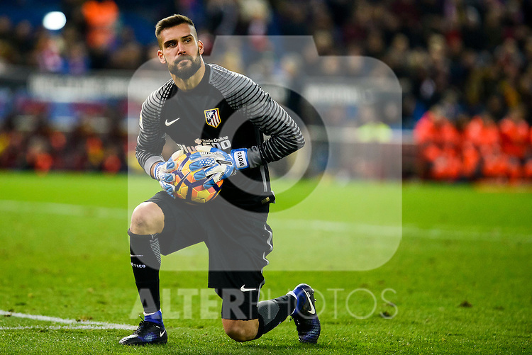 Atletico de Madrid Miguel Angel Moyá during La Liga match between Atletico de Madrid and UD Las Palmas at Vicente Calderon Stadium in Madrid, Spain. December 17, 2016. (ALTERPHOTOS/BorjaB.Hojas)