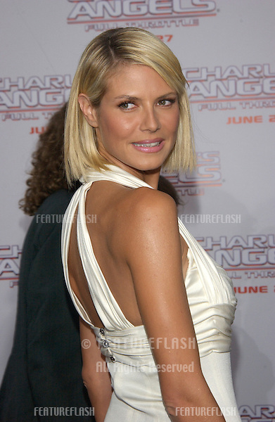 Supermodel HEIDI KLUM at the Hollywood premiere of Charlie's Angels: Full Throttle..June 18, 2003.