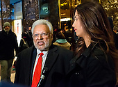 Following his meeting with President-elect Donald Trump, Chairman of the Republican Hindu Coalition Rohit Kumar speaks with the press in the lobby of Trump Tower in New York, NY, USA December 15, 2016. Credit: Albin Lohr-Jones / Pool via Polaris<br /> Credit: Albin Lohr-Jones / Pool via CNP