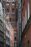 Gdańsk, (woj. pomorskie) 18.07.2016. Ulica Kaletnicza w Gdańsku.