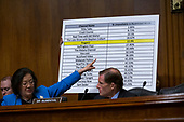 United States Senator Mazie Hirono (Democrat of Hawaii) refers to a graphic during the Subcommittee on the Constitution on Capitol Hill in Washington D.C., U.S. on July 16, 2019.<br /> <br /> Credit: Stefani Reynolds / CNP