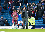 Rangers v St Johnstone&hellip;16.02.19&hellip;   Ibrox    SPFL<br />Tommy Wright salutes the travelling saints fans at full time<br />Picture by Graeme Hart. <br />Copyright Perthshire Picture Agency<br />Tel: 01738 623350  Mobile: 07990 594431